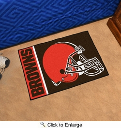 "Fan Mats 8227  NFL - Cleveland Browns 20"" x 30"" Uniform Inspired Starter Series Area Rug / Mat"