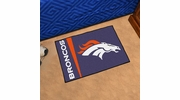 "Fan Mats 8229  NFL - Denver Broncos 20"" x 30"" Uniform Inspired Starter Series Area Rug / Mat"