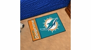 "Fan Mats 8232  NFL - Miami Dolphins 20"" x 30"" Uniform Inspired Starter Series Area Rug / Mat"