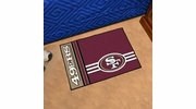 "Fan Mats 8256  NFL - San Francisco 49ers 20"" x 30"" Uniform Inspired Starter Series Area Rug / Mat"