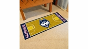 "Fan Mats 8258  UConn - University of Connecticut Huskies 30"" x 72"" NCAA Basketball Court-Shaped Runner Rug"