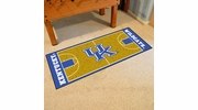 "Fan Mats 8262  UK - University of Kentucky Wildcats 30"" x 72"" NCAA Basketball Court-Shaped Runner Rug"