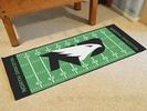 "Fan Mats 8295  UND - University of North Dakota Fighting Hawks 30"" x 72"" Football Field-Shaped Runner Rug"