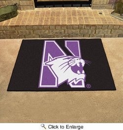"Fan Mats 831  Northwestern University Wildcats 33.75"" x 42.5"" All Star Mat"