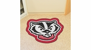 Fan Mats 8342  University of Wisconsin Badgers Approx. 3 ft x 4 ft Mascot Area Rug / Mat