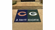 "Fan Mats 8461   NFL - Chicago Bears vs Green Bay Packers 33.75"" x 42.5"" House Divided Area Rug / Mat"