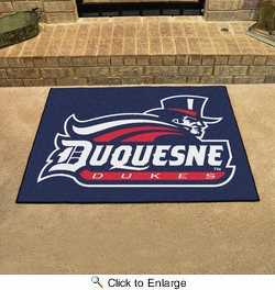 "Fan Mats 849  Duquesne University Dukes 33.75"" x 42.5"" All-Star Series Area Rug / Mat"