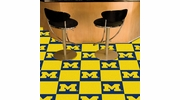 "Fan Mats 8513  UM - University of Michigan Wolverines 18"" x 18"" Team Carpet Tiles (10 Logo, 10 Solid per Box - appx 45 sq ft)"