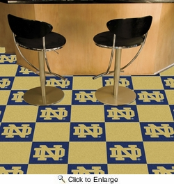 "Fan Mats 8514  ND - University of Notre Dame Fighting Irish 18"" x 18"" Team Carpet Tiles (10 Logo, 10 Solid per Box - appx 45 sq ft)"
