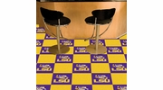 "Fan Mats 8515  LSU - Louisiana State University Tigers 18"" x 18"" Team Carpet Tiles (10 Logo, 10 Solid per Box - appx 45 sq ft)"
