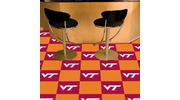 "Fan Mats 8531  VT - Virginia Tech Hokies 18"" x 18"" Team Carpet Tiles (10 Logo, 10 Solid per Box - appx 45 sq ft)"