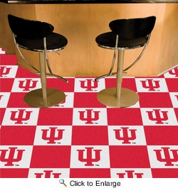 "Fan Mats 8537  IU - Indiana University Hoosiers 18"" x 18"" Team Carpet Tiles (10 Logo, 10 Solid per Box - appx 45 sq ft)"