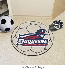 "Fan Mats 855  Duquesne University Dukes 27"" Diameter Soccer Ball Shaped Area Rug"
