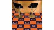 "Fan Mats 8561  NFL - Chicago Bears 18"" x 18"" Team Carpet Tiles (10 Logo, 10 Solid per Box - appx 45 sq ft)"