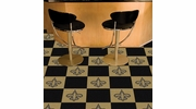 "Fan Mats 8564  NFL - New Orleans Saints 18"" x 18"" Team Carpet Tiles (10 Logo, 10 Solid per Box - appx 45 sq ft)"