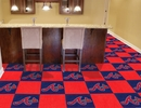 "Fan Mats 8575  MLB - Atlanta Braves 18"" x 18"" Team Carpet Tiles (10 Logo, 10 Solid per Box - appx 45 sq ft)"