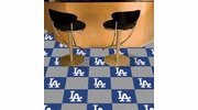 "Fan Mats 8587  MLB - Los Angeles Dodgers 18"" x 18"" Team Carpet Tiles (10 Logo, 10 Solid per Box - appx 45 sq ft)"