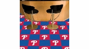 "Fan Mats 8593  MLB - Philadelphia Phillies 18"" x 18"" Team Carpet Tiles (10 Logo, 10 Solid per Box - appx 45 sq ft)"