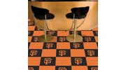 "Fan Mats 8597  MLB - San Francisco Giants 18"" x 18"" Team Carpet Tiles (10 Logo, 10 Solid per Box - appx 45 sq ft)"
