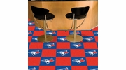 "Fan Mats 8602  MLB - Toronto Blue Jays 18"" x 18"" Team Carpet Tiles (10 Logo, 10 Solid per Box - appx 45 sq ft)"