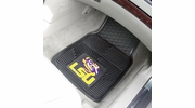 "Fan Mats 8747  LSU - Louisiana State University Tigers 17"" x 27"" Heavy Duty Vinyl Car Mat Set"