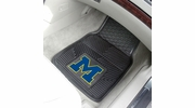 "Fan Mats 8748  UM - University of Michigan Wolverines 17"" x 27"" Heavy Duty Vinyl Car Mat Set"