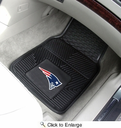 "Fan Mats 8754  NFL - New England Patriots 17"" x 27"" Heavy Duty Vinyl Car Mat Set"