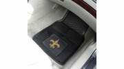 "Fan Mats 8757  NFL - New Orleans Saints 17"" x 27"" Heavy Duty Vinyl Car Mat Set"