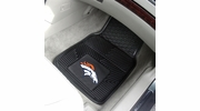 "Fan Mats 8768  NFL - Denver Broncos 17"" x 27"" Heavy Duty Vinyl Car Mat Set"