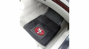 "Fan Mats 8902  NFL - San Francisco 49ers 17"" x 27"" Heavy Duty Vinyl Car Mat Set"