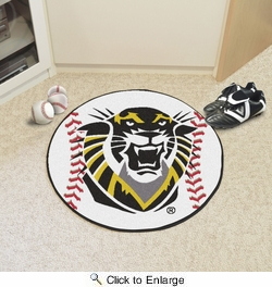 "Fan Mats 894  FHSU - Fort Hays State University Tigers 27"" Diameter Baseball Shaped Area Rug"