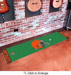 "Fan Mats 9008  NFL - Cleveland Browns 18"" x 72"" Putting Green Mat"