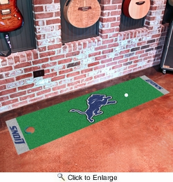 "Fan Mats 9011  NFL - Detroit Lions 18"" x 72"" Putting Green Mat"