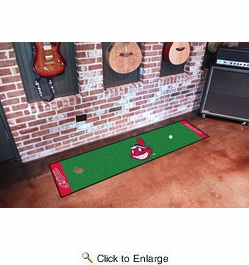 "Fan Mats 9042  MLB - Cleveland Indians 18"" x 72"" Putting Green Mat"