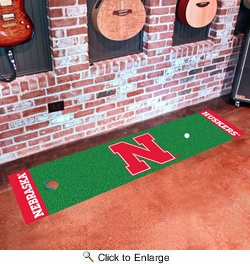 "Fan Mats 9077  NU - University of Nebraska Cornhuskers 18"" x 72"" Putting Green Mat"