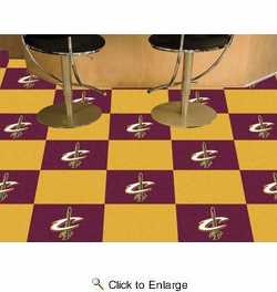"Fan Mats 9236  NBA - Cleveland Cavaliers 18"" x 18"" Team Carpet Tiles (10 Logo, 10 Solid per Box - appx 45 sq ft)"
