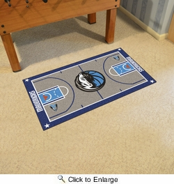 "Fan Mats 9239  NBA - Dallas Mavericks 29.5"" x 54"" Large NBA Court-Shaped Runner Rug"