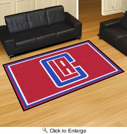 Fan Mats 9290  NBA - Los Angeles Clippers 5' x 8' Area Rug
