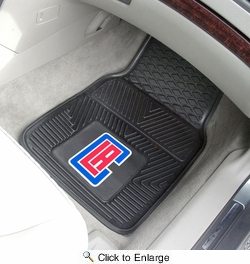 "Fan Mats 9293  NBA - Los Angeles Clippers 17"" x 27"" Heavy Duty Vinyl Car Mat Set"