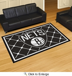 Fan Mats 9339  NBA - Brooklyn Nets 5' x 8' Area Rug