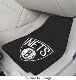 "Fan Mats 9341  NBA - Brooklyn Nets 17"" x 27"" Carpeted Car Mat Set"
