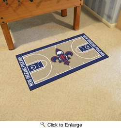 "Fan Mats 9346  NBA - New Orleans Pelicans 29.5"" x 54"" Large NBA Court-Shaped Runner Rug"