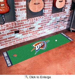"Fan Mats 9415  NBA - Oklahoma City Thunder 18"" x 72"" Putting Green Mat"