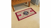 "Fan Mats 9418  NBA - Toronto Raptors 29.5"" x 54"" Large NBA Court-Shaped Runner Rug"