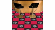 "Fan Mats 9424  NBA - Toronto Raptors 18"" x 18"" Team Carpet Tiles (10 Logo, 10 Solid per Box - appx 45 sq ft)"