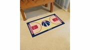 "Fan Mats 9434  NBA - Washington Wizards 29.5"" x 54"" Large NBA Court-Shaped Runner Rug"