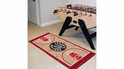 "Fan Mats 9507  NBA - Toronto Raptors 24"" x 44"" NBA Court-Shaped Runner Rug"