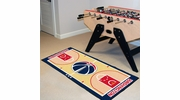 "Fan Mats 9509  NBA - Washington Wizards 24"" x 44"" NBA Court-Shaped Runner Rug"