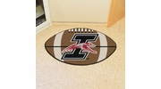 "Fan Mats 983  University of Indianapolis Greyhounds 20.5"" x 32.5"" Football Shaped Area Rug"