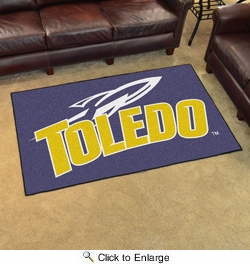 Fan Mats 9958  UT - University of Toledo Rockets 4' x 6' Area Rug